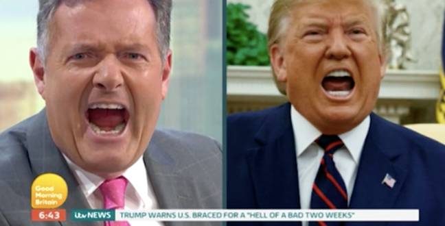 Piers laughed at the Trump comparison (Credit: ITV)