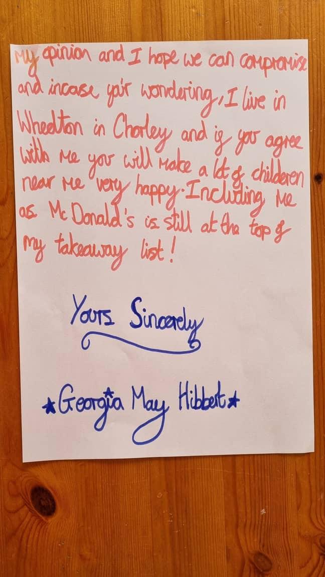 Georgia is an aspiring writer (Credit: Kennedy)