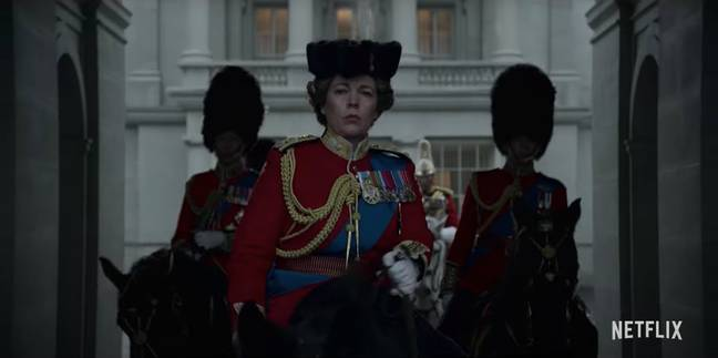 The trailer kicks off with Olivia Colman as the Queen (Credit: Netflix)