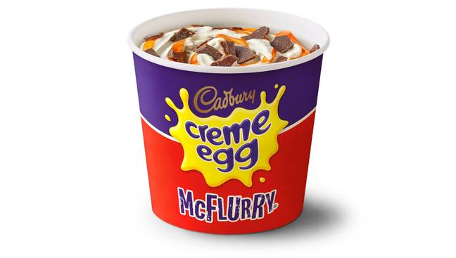 The Crème Egg McFlurry is back on 24th March (Credit: McDonald's)