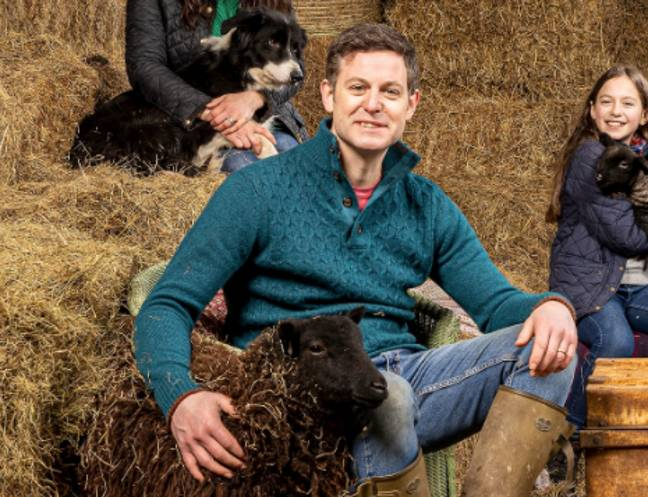 Matt Baker is used to dealing with wildlife in Our Farm In The Dales (Credit: Twitter/C4Press)