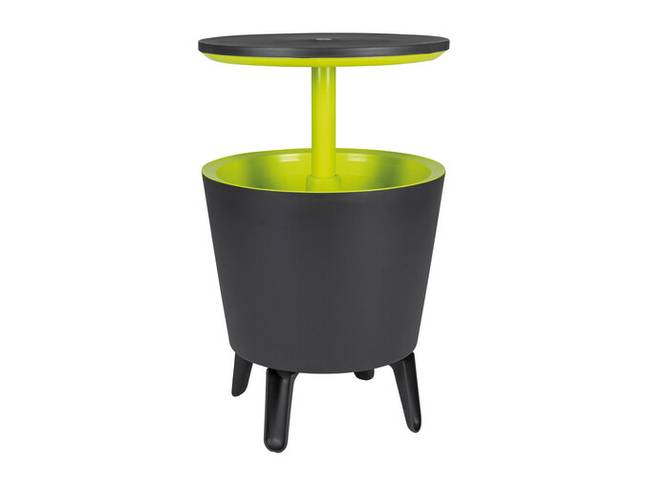 The table is height adjustable and includes a built-in wine cooler (Credit: Lidl)