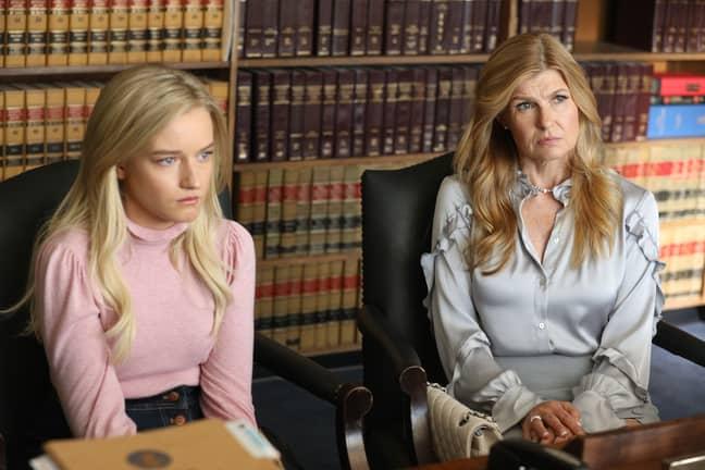 Julia Garner (left) in 'Dirty John' will play Anna Delvey (Credit: Bravo)