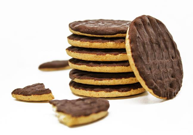 Apparently, a chocolate-coated biscuit tastes better with the chocolate facing downwards (Credit: Shutterstock)
