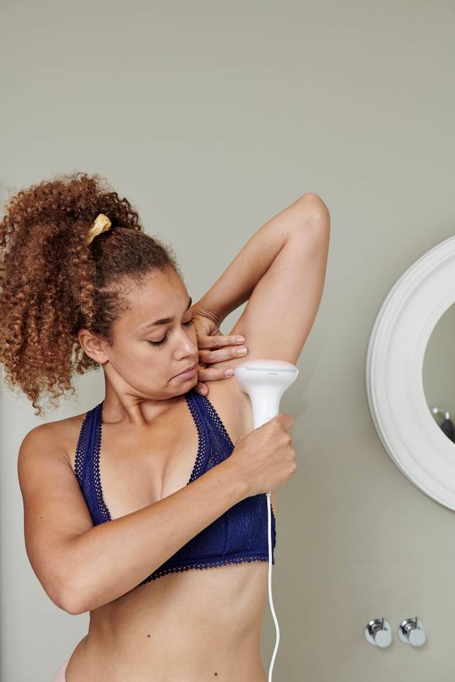 New images on the Argos website will show the realities of hair removal (Credit: Argos/Phillips)