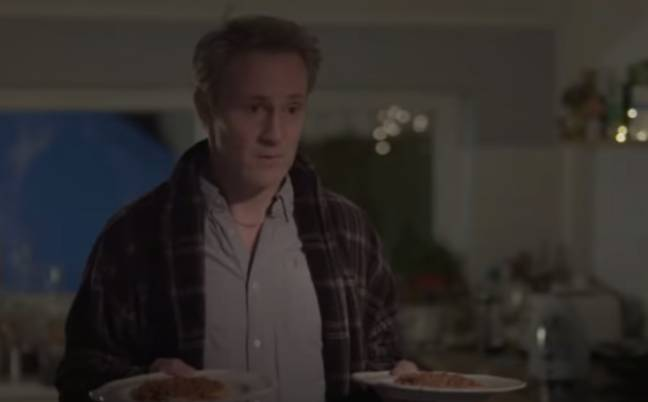 Connell can be seen with two plates of beans on toast (Credit: Hulu/RTE One)