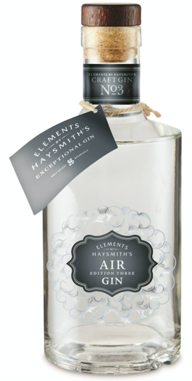 The 'Air' gin is flavoured with seaweed and sea buckthorn (Credit: Aldi)