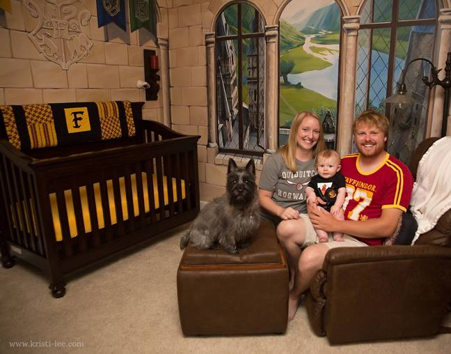 Casey and Kaycee created the nursery for their son Finley (Credit: Kristi-lee Photography)
