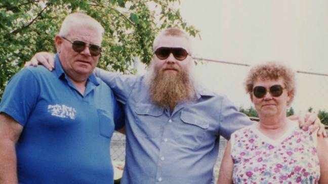 Steven Avery with his parents ' Credit: Netflix