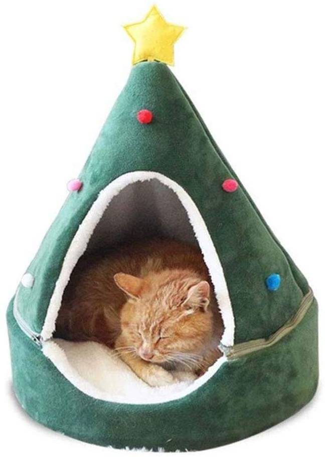 You can find a much cheaper cat cave on Amazon. (Credit: SPTHY/Amazon)
