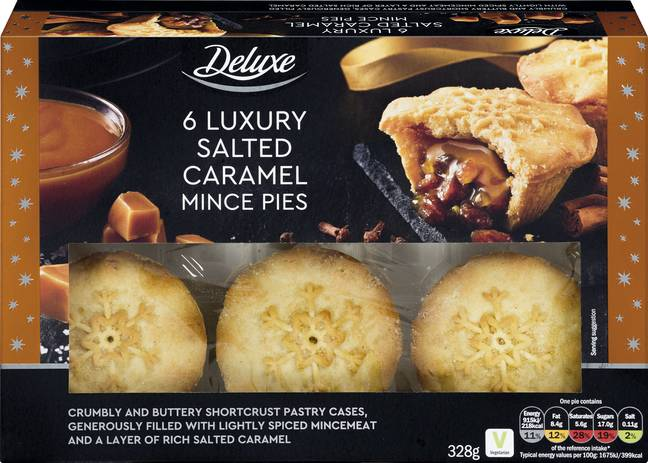 The salted caramel mince pies are set to be a festive favourite (Credit: Lidl)