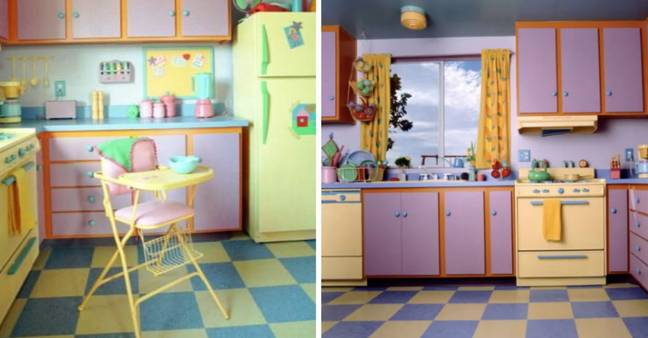 The Simpsons kitchen replica (Credit: Fox/ Kaufman and Broad)