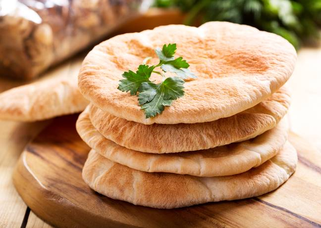 How do you cut your pitta bread? (Credit: Shutterstock)