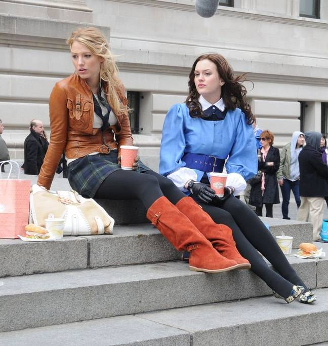 Blake Lively and Leighton Meister in the original Gossip Girl series (Credit: Warner Bros.)
