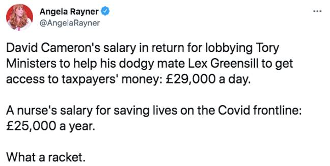 Angela Rayner is not impressed (Credit: Twitter)