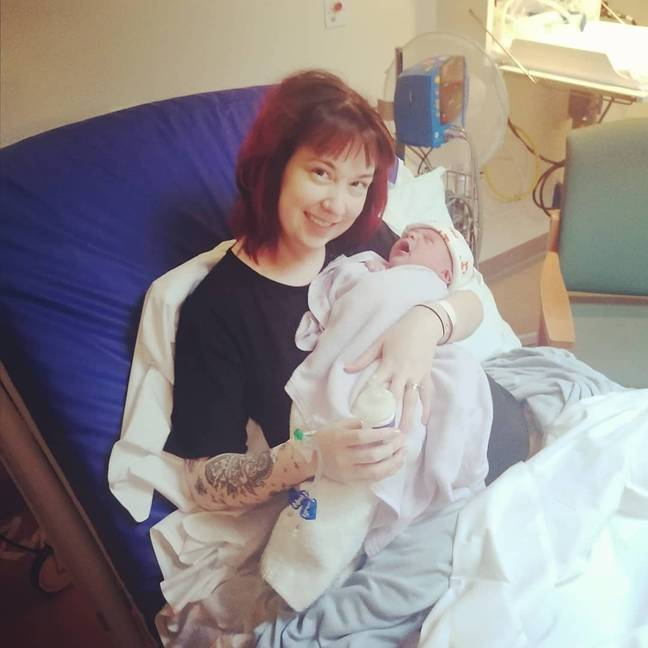 Terri-Ann has to have a episiotomy so she could give birth to son Odin in March (Credit: My Expert Midwife)
