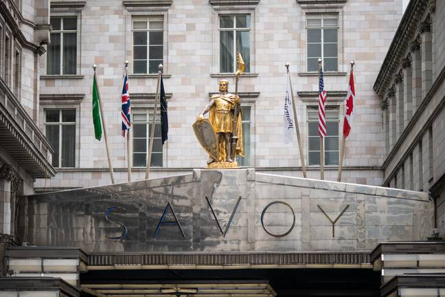 The Savoy hotel in London (Credit: PA)
