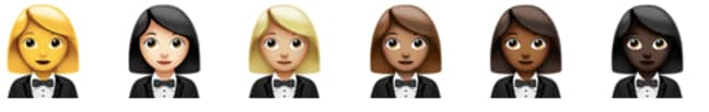 The new emojis feature several new 'gender-neutral' additions (Credit: Emojipedia)