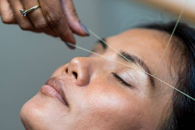 Close contact beauty treatments such as eyebrow threading can now go ahead under new guidance (Credit: Unsplash)