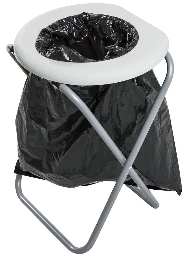 Andes Portable Folding Outdoor Camping Toilet, £14.99. Credit: Amazon