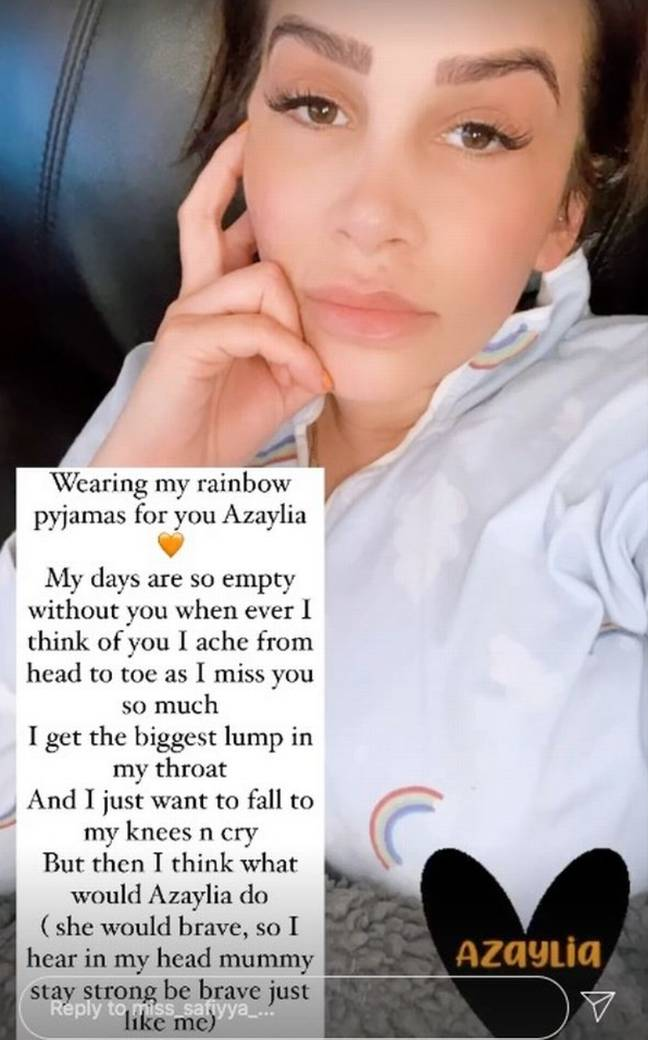 Azaylia's mum Safiyya also spoke about the pain of losing her daughter (Credit: Safiyya Vorajee/ Instagram)
