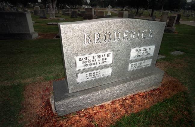 Linda and Dan Broderick's grave (Credit: PA)