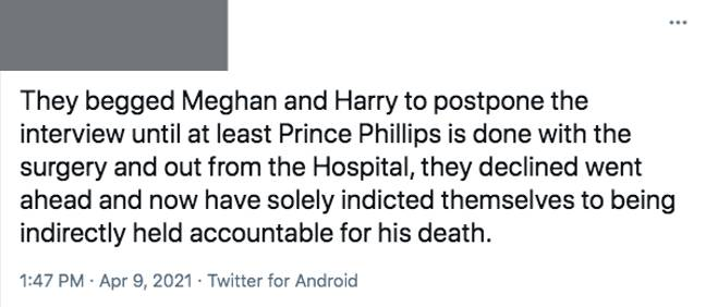 This royal 'expert' blamed Meghan and Harry despite having no knowledge on the situation (Credit: Twitter)
