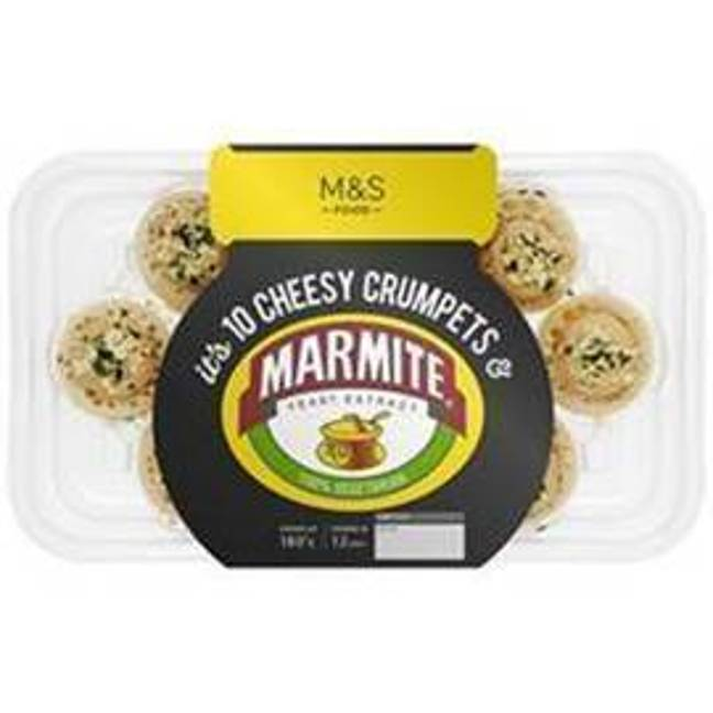 M&S's new Marmite Cheesy Crumpets (Credit: Marks & Spencer)