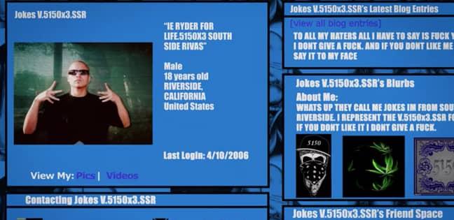 William Sotelo's unknowingly spoke to Belina Lane on Myspace (Credit: Netflix)