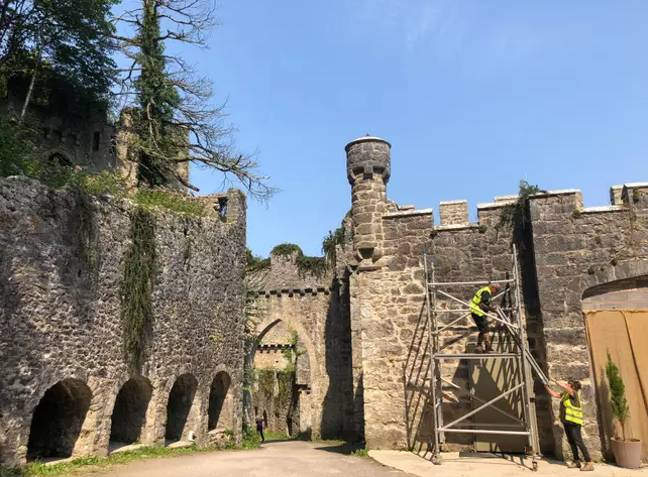 The series is set in a Welsh castle (Credit: Caters)