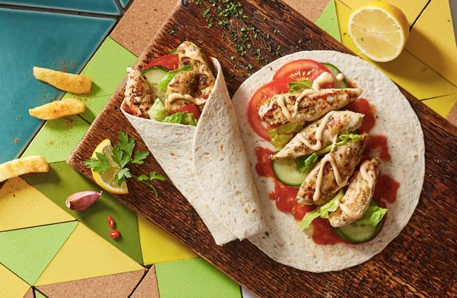 The wraps come in three tasty flavours (Credit: Nando's)