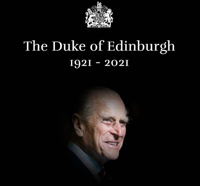 This tribute appears on the Royal Family's website (Credit: The Royal Family)