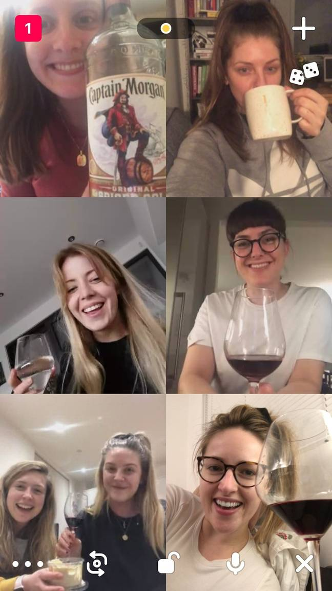 Video chatting with friends with booze sounds like the perfect Friday night isolation (Credit: Unity Blott)