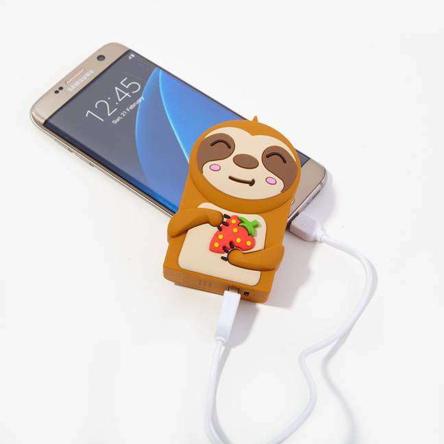 The Sloth Power Bank from quirky gifting company Firebox offers 2000mAh of charging power (Credit: Firebox)