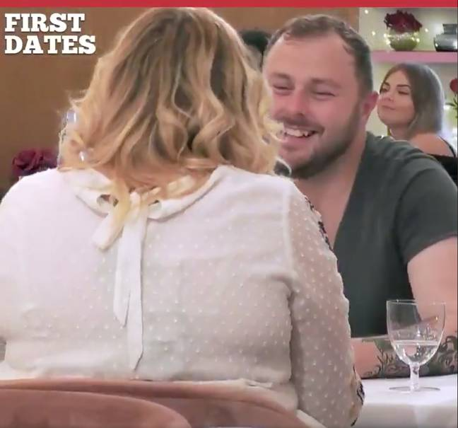 The pair hit it off as they described past loves (Credit: Channel 4)