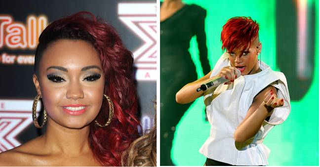 In the documentary Leigh-Anne says X-Factor bosses cut and dyed her hair red to make her
