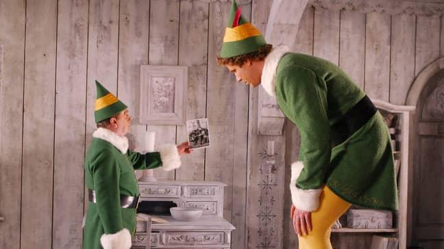Will Ferrell and Bob Newhart in Elf (2003) (Credit: New Line Cinema)