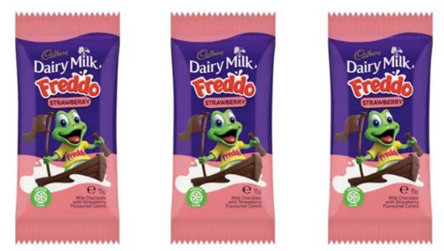Grab Strawberry Freddos in the B and M, now (Credit: Cadbury's)
