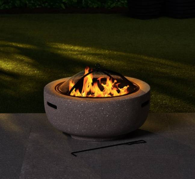 The Vermont fire pit, £90, is at the top end of the scale (Credit: B&M)