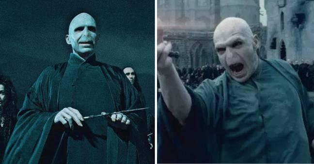Voldermort's cloak completely changes in colour as horcruxes are destroyed Credit: Warner Bros