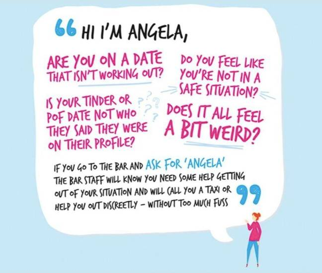 Ask for Angela if you're feeling unsafe (Credit: Greater Manchester Police)