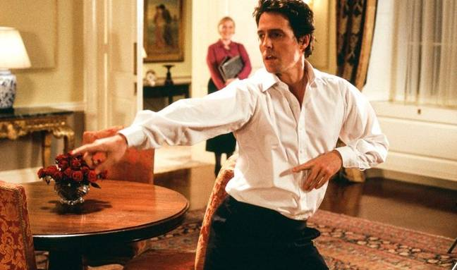 Hugh Grant plays the Prime Minister in Love Actually, after the heart of his assistant played by Martine McCutcheon (Universal Pictures)