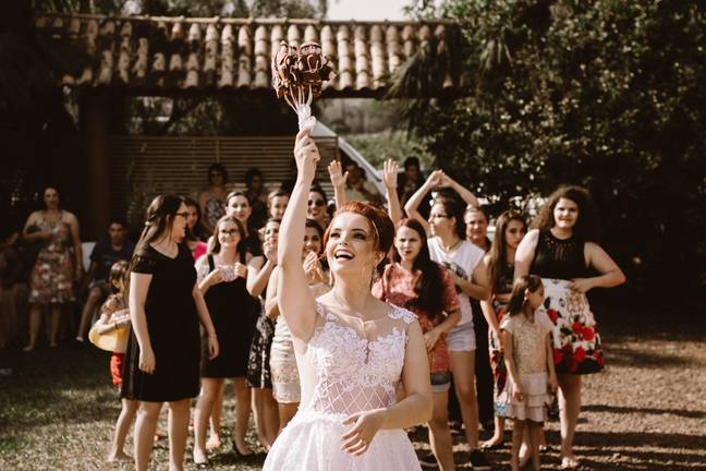One bride wasn't happy about sharing the limelight (Credit: Unsplash)