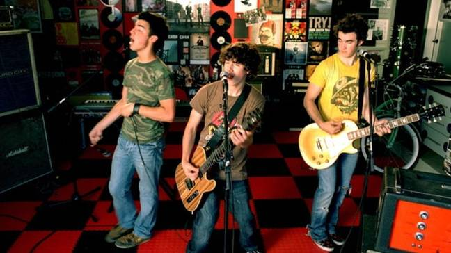 The Jonas Brothers in the music video for Year 3000 (Credit: Jonas Brothers/Hollywood Records)