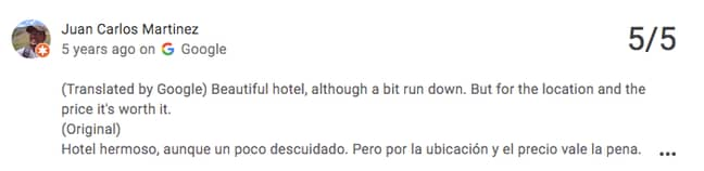 Some even called the hotel 'beautiful' (Credit: Google Review/ Stay On Main)