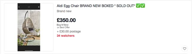 Would you spend this much on the infamous chair? (Credit: eBay)