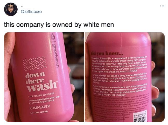 The product went viral thanks to its questionable blurb (Credit: Twitter)