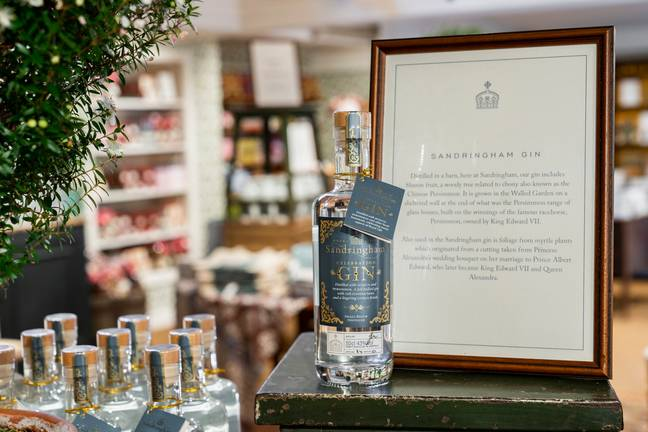 The gin is flavoured with leaves from myrtle plants grown at Sandringham, as well as exotic Sharon fruit (Credit: Sandringham Estate)