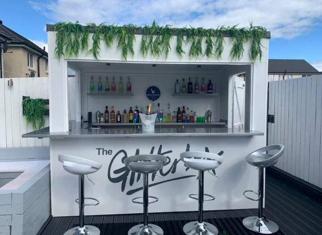 The couple will be enjoying socially distanced drinks at the mini Glitterbox with their family this summer (Credit: SWNS)