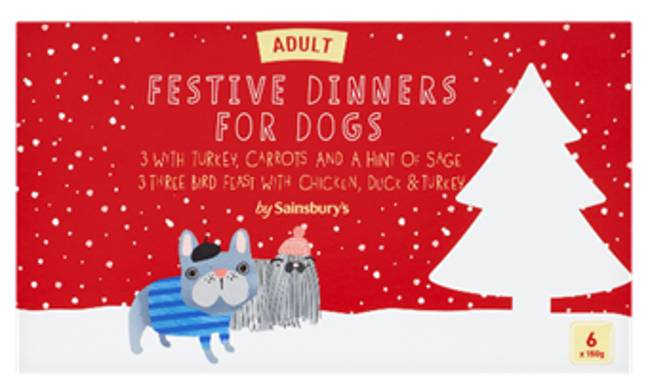 Dog Christmas dinner is available at Sainsbury's too Credit: Sainsbury's